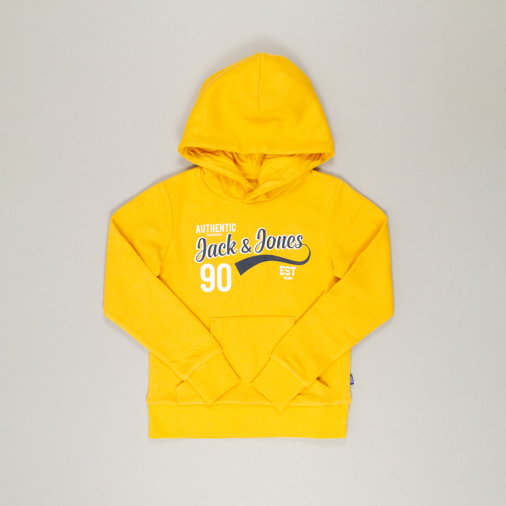 JUNIOR Logo Sweat Boys Hood 2 in YOLK YELLOWJACK & JONES JUNIOR - CACTWS