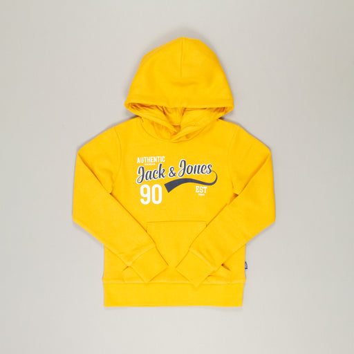 JACK & JONES JUNIOR Logo Sweat Boys Hood 2 in YOLK YELLOW