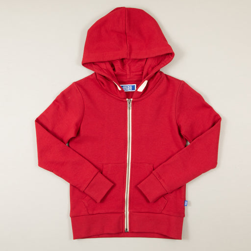 JUNIOR Holmen Boys Sweat Zip Hood in RIO RED