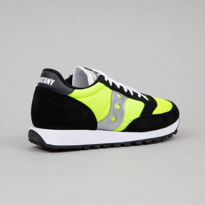 SAUCONY Jazz Original Vintage Trainers in NEON, BLACK & SILVER