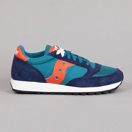 Jazz Original Vintage Trainers in PEACOAT, TEAL & ORANGESAUCONY - CACTWS