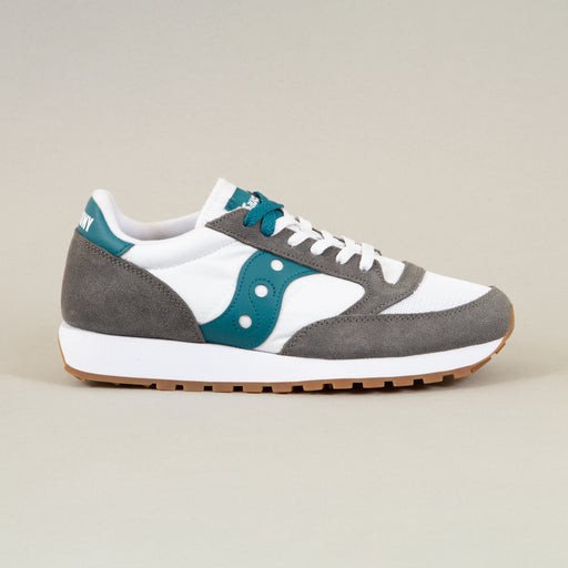 Jazz Original Vintage Trainers in GREY, WHITE & TEALSAUCONY - CACTWS