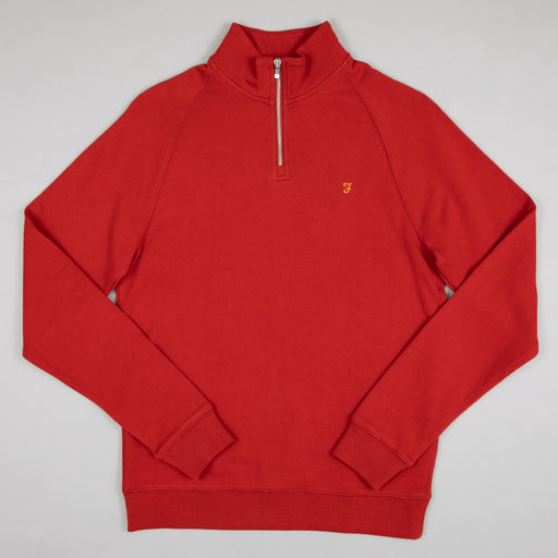 Jim Quarter Zip Sweater in FARAH RUSSET