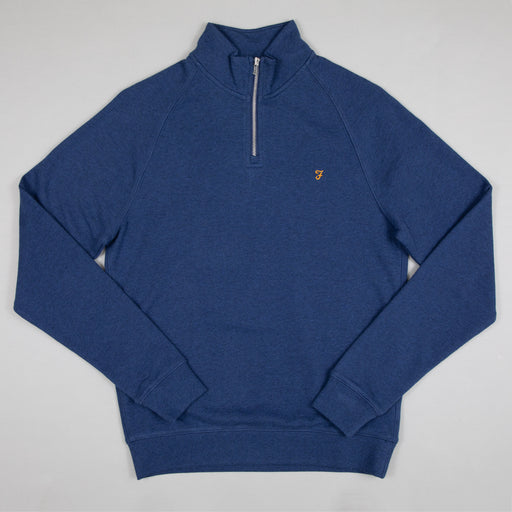 Jim Quarter Zip Sweater in ULTRAMARINE MARL