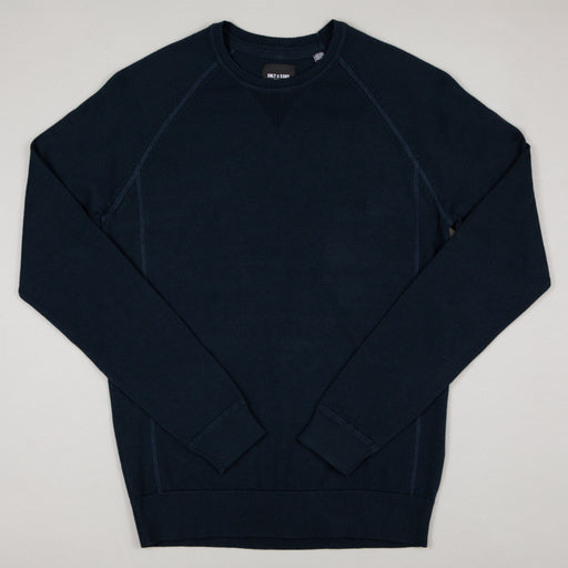 Kaleb 12 Crew Neck Knit in DRESS BLUES