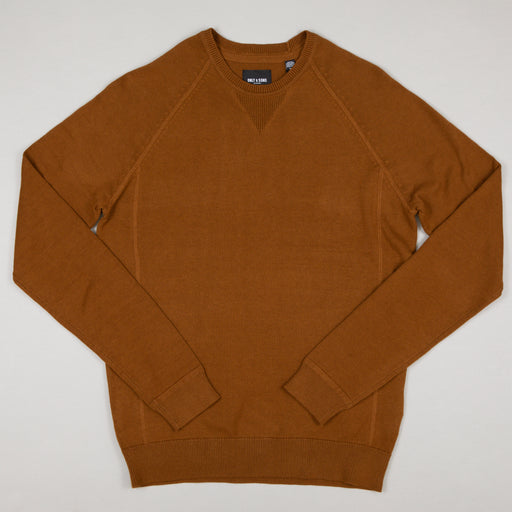 ONLY & SONS Kaleb 12 Crew Neck Knit Sweater in MONKS ROBE