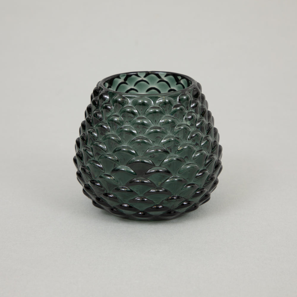 LIGHT & LIVING LEVAY Glass Tealight Holder in GREEN