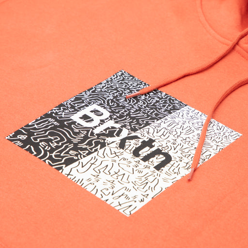 LUCAS BEAUFORT Crowd Hooded Fleece in CORALBRIXTON - CACTWS