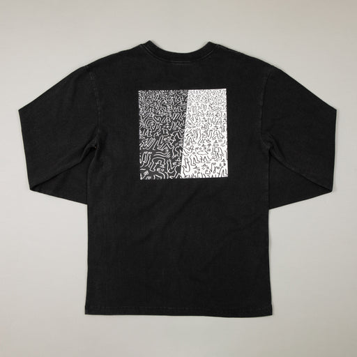 LUCAS BEAUFORT Crowd II Long Sleeve T-shirt in BLACKBRIXTON - CACTWS
