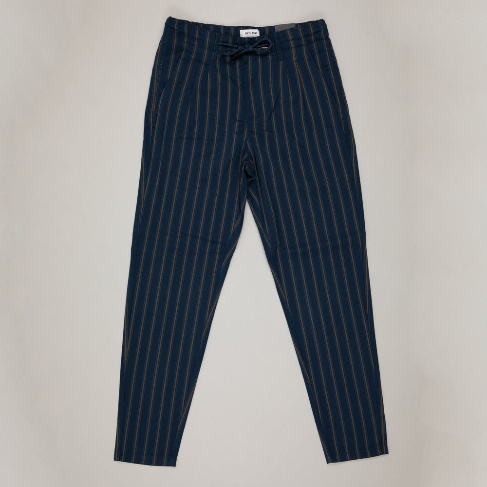 Leo Stripe Cropped Trousers in DRESS BLUESONLY AND SONS - CACTWS