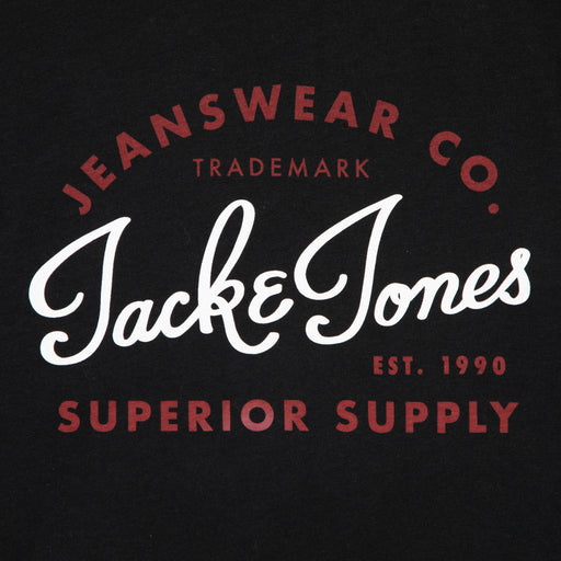 JUNIOR Logo Short Sleeve Boys Tee in BLACKJACK & JONES JUNIOR - CACTWS