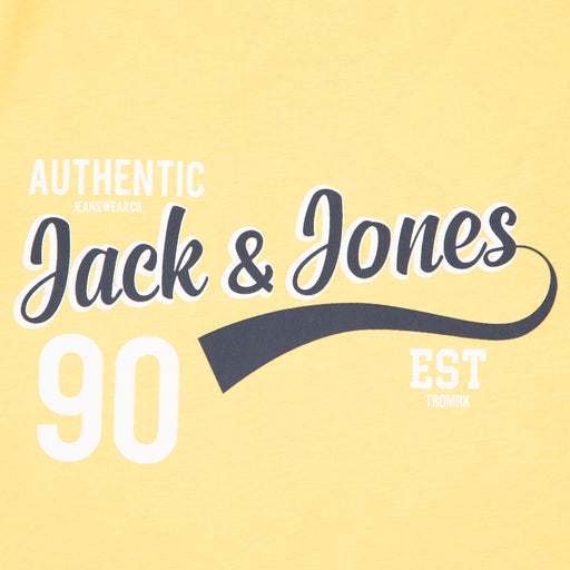 JUNIOR Logo Short Sleeve Boys Tee in LEMON DROPJACK & JONES JUNIOR - CACTWS