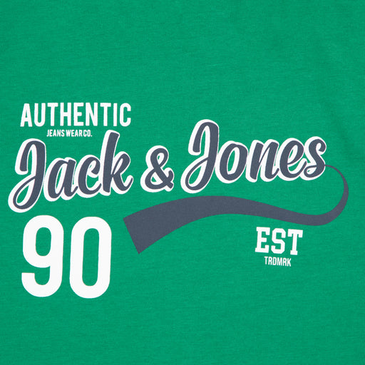 JUNIOR Logo Short Sleeve Boys Tee in VERDANT GREENJACK & JONES JUNIOR - CACTWS