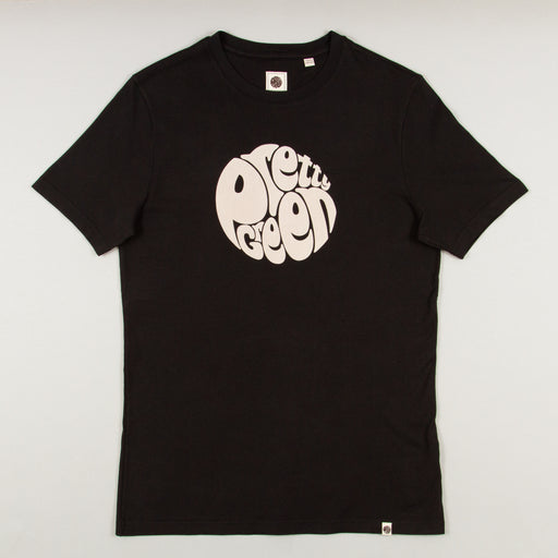 Logo Print T-Shirt in BLACKPRETTY GREEN - CACTWS