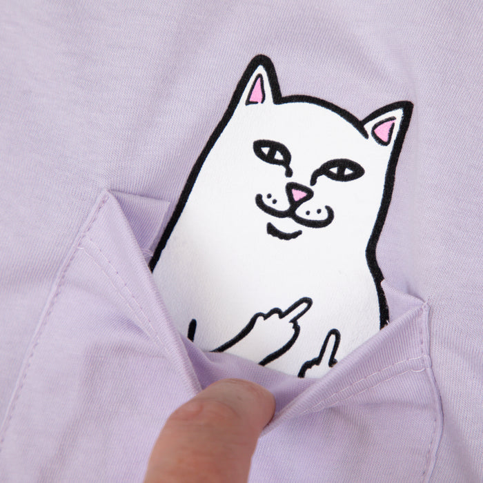 RIPNDIP Lord Nermal Long Sleeve T-Shirt in LAVENDER