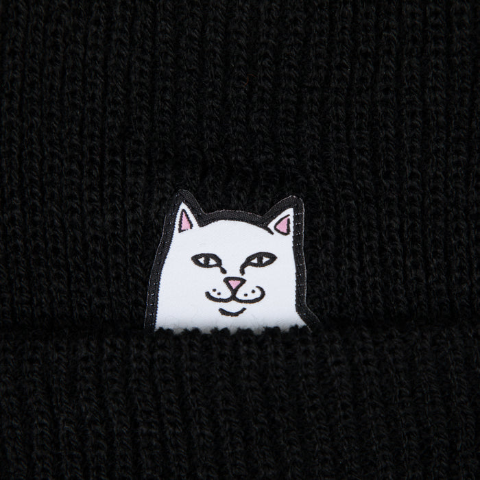 RIPNDIP Lord Nermal Ribbed Beanie in BLACK