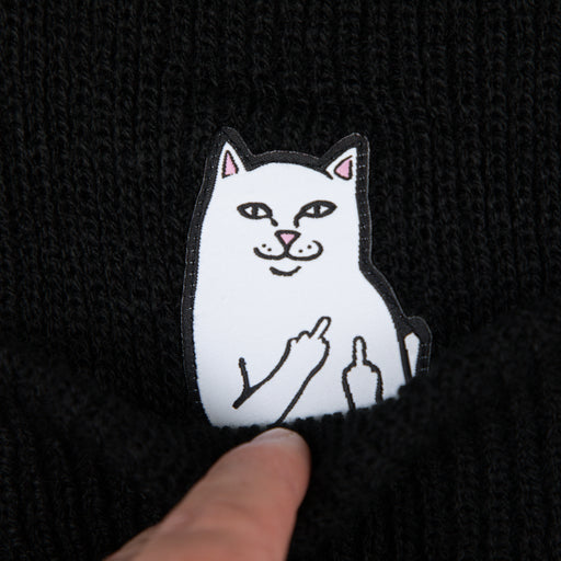 Lord Nermal Ribbed Beanie in BLACK