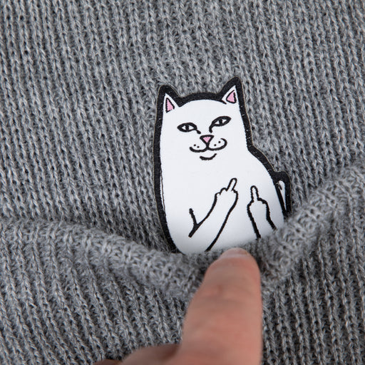 RIPNDIP Lord Nermal Ribbed Beanie in HEATHER GREY