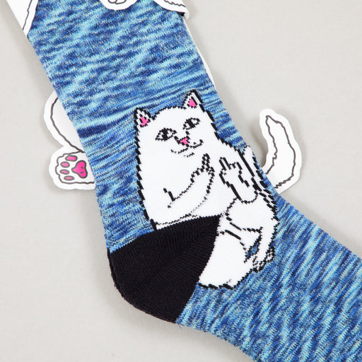 Lord Nermal Ribbed Socks in NAVY SPECKLERIPNDIP - CACTWS