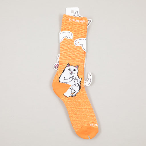 Lord Nermal Ribbed Socks in ORANGE SPECKLERIPNDIP - CACTWS