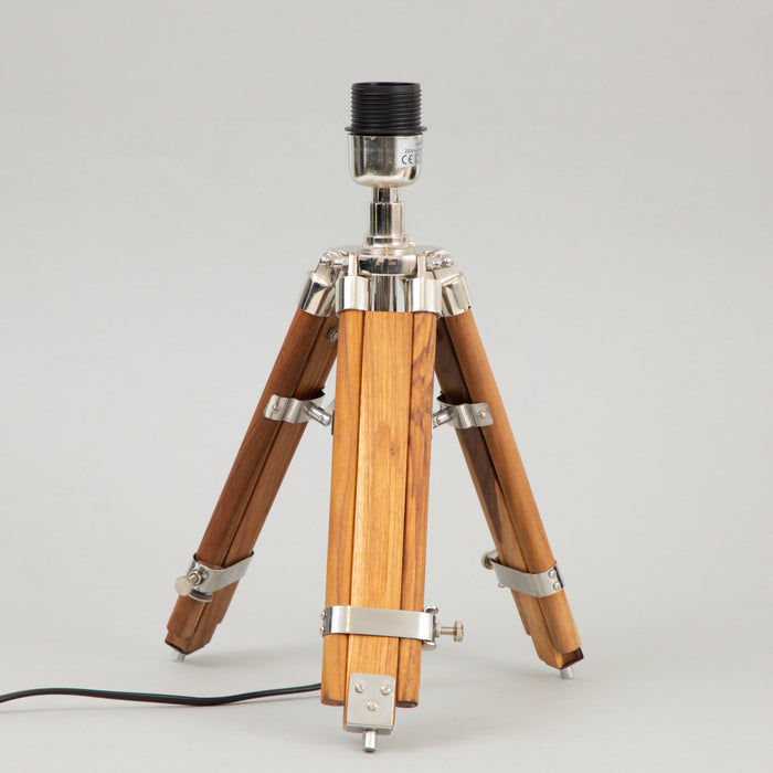 LIGHT & LIVING MATISSE Tripod Table Lamp Base in WOOD