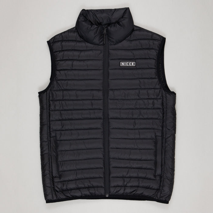 NICCE Maidan Quilted Gilet in BLACK