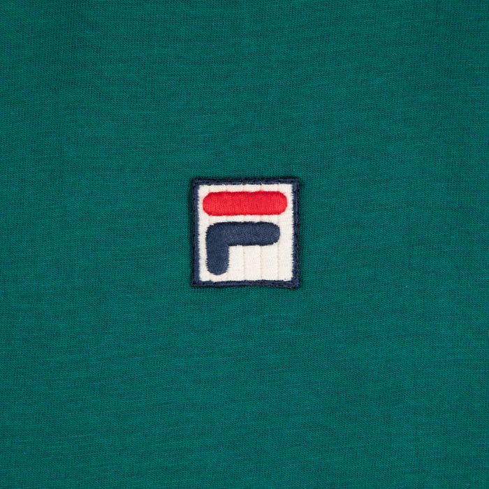 FILA Marconi Essential Ringer T-Shirt in STORM GREEN