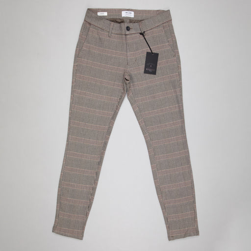 ONLY & SONS Mark Checked Classic Pants in CHINCHILLA