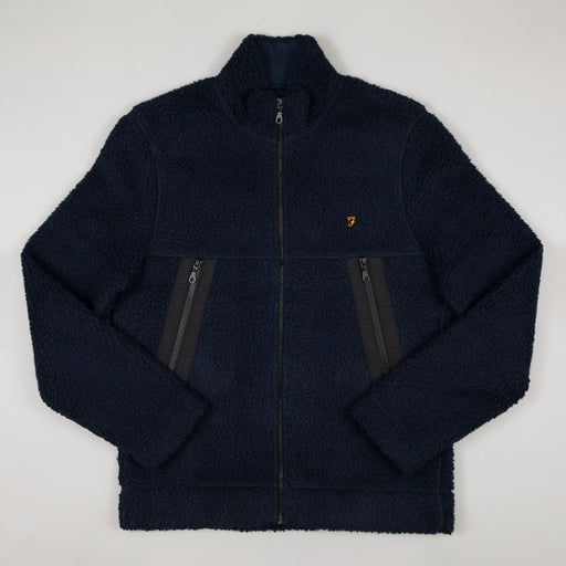 Mayfield Zip Through Sweatshirt in TRUE NAVY