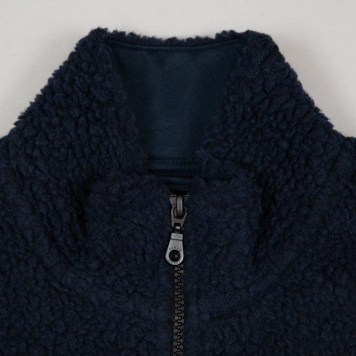 FARAH Mayfield Zip Through Jacket in TRUE NAVY