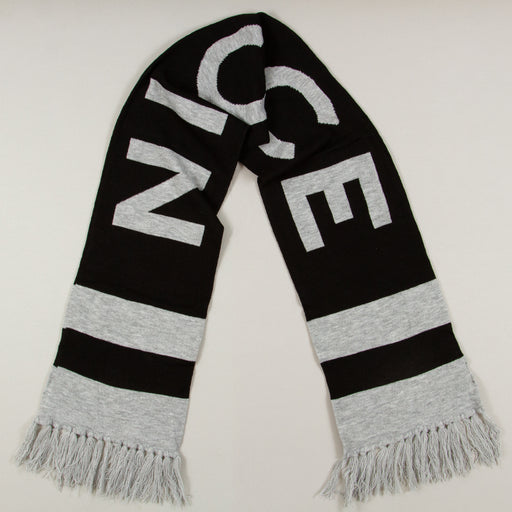 Unisex Brecken Large Scarf in GREY MARL & BLACK