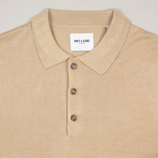 Nestor Blend Polo Knit in CHINCHILLAONLY AND SONS - CACTWS