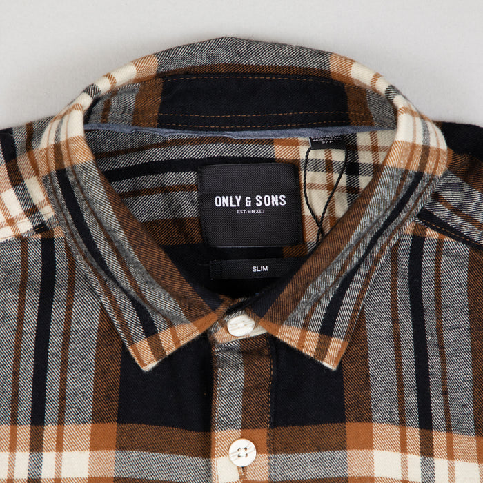 New Omar Checked Shirt in MONKS ROBE