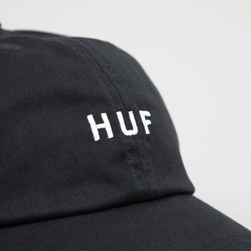 OG Logo Curved Visor Hat in BLACK