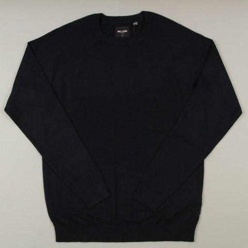 Mikkel 12 Soft Crew Raglan Knit in DARK NAVYONLY AND SONS - CACTWS