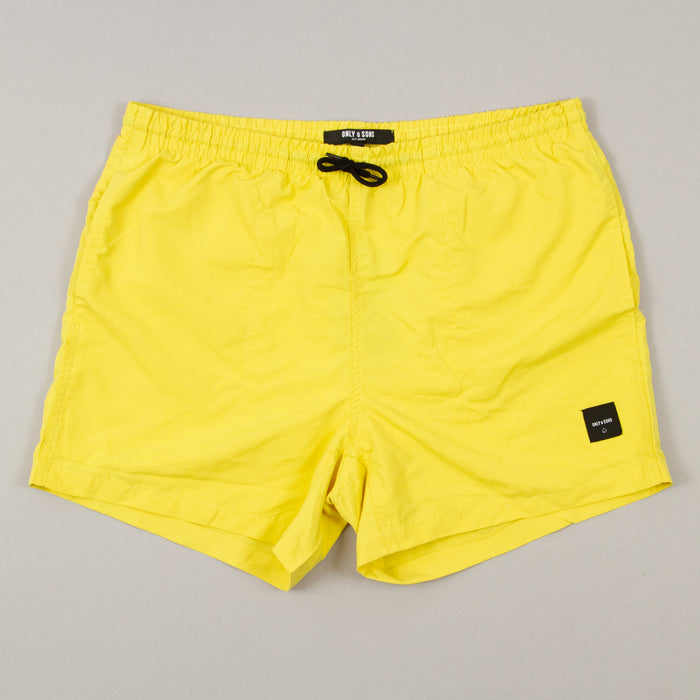 Tan Swimshorts in CELERY YELLOWONLY AND SONS - CACTWS