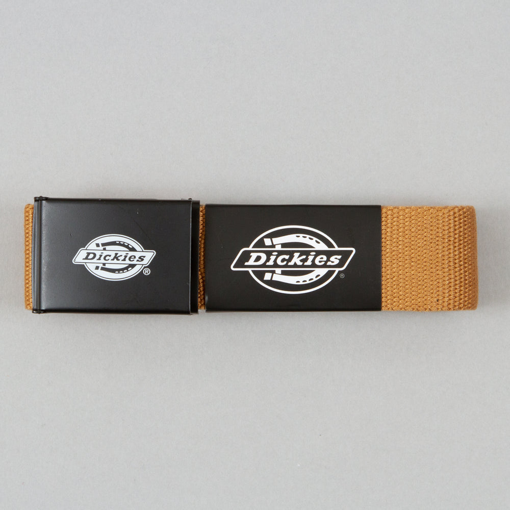 DICKIES Orcutt Webbing Logo Buckle Belt in BROWN DUCK