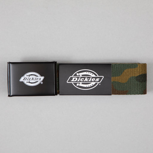 DICKIES Orcutt Webbing Logo Buckle Belt in CAMOUFLAGE