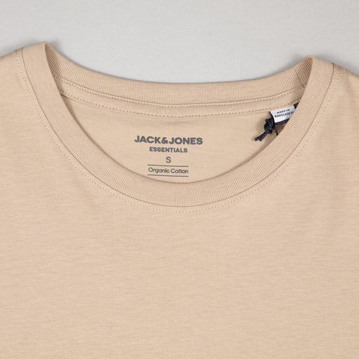 JACK & JONES Organic Basic T-Shirt in CROCKERY
