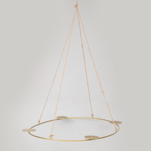 Oval Hanging Candle Holder in ANTIQUE BRASS