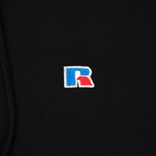 RUSSELL ATHLETIC Oversize Fleece Hoodie in BLACK