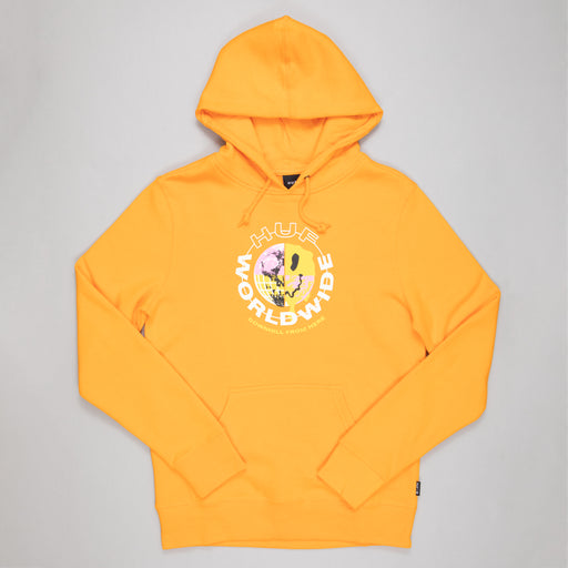 HUF Oxy Pullover Hoodie in ELECTRIC ORANGE