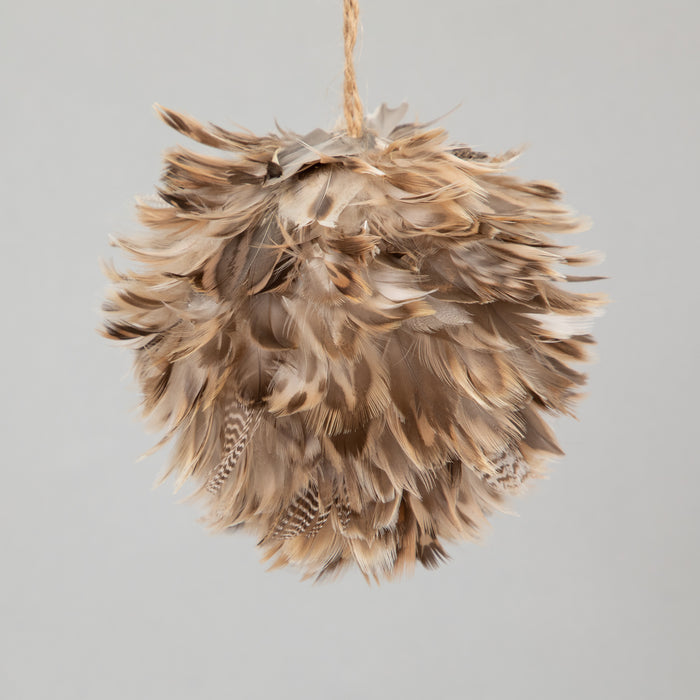 PLUME Christmas bauble in Brown (10cm)