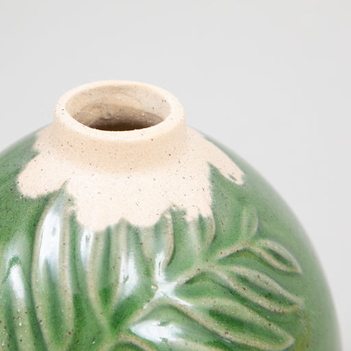 POLOS Ceramic Vase in DARK GREEN GLAZE