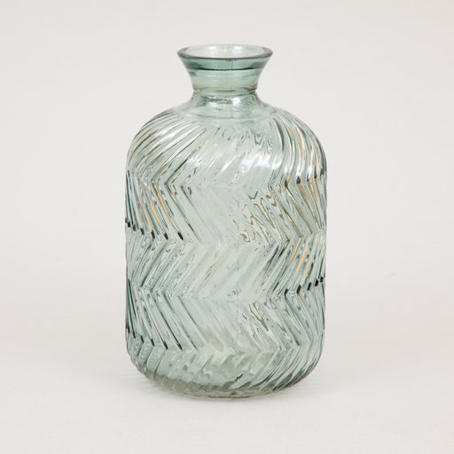 PRAIA Glass Vase in GREY GREEN