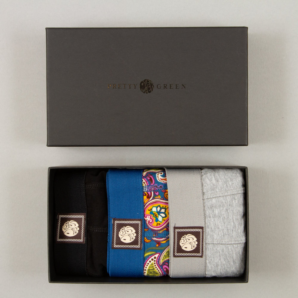 3 Pack Boxer Shorts Gift Set in MULTIPRETTY GREEN - CACTWS