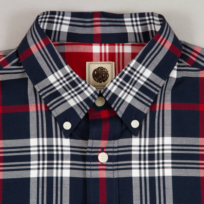 Large Check Shirt in NAVY CHECK