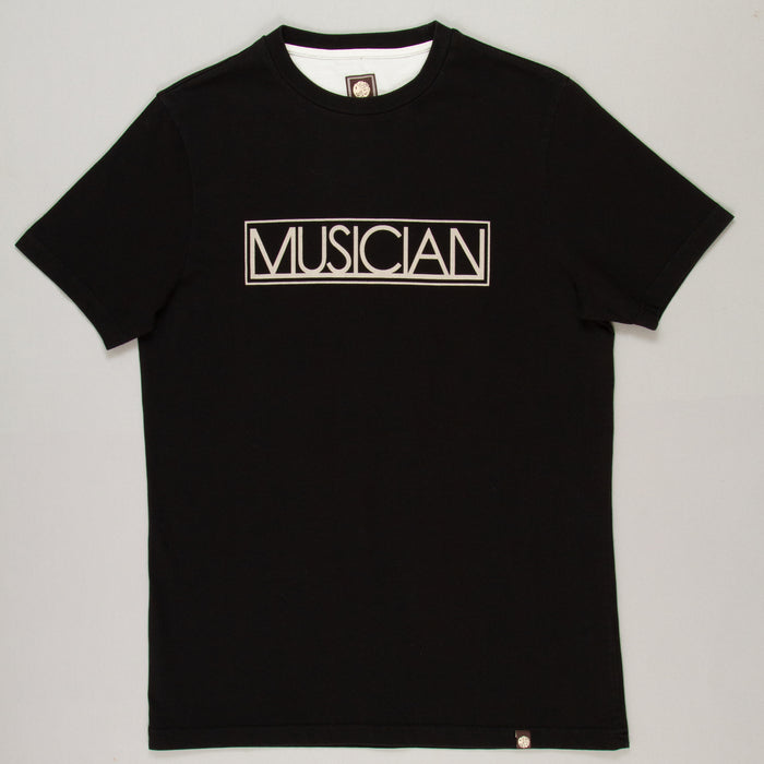 Musician Print T-Shirt in BLACK