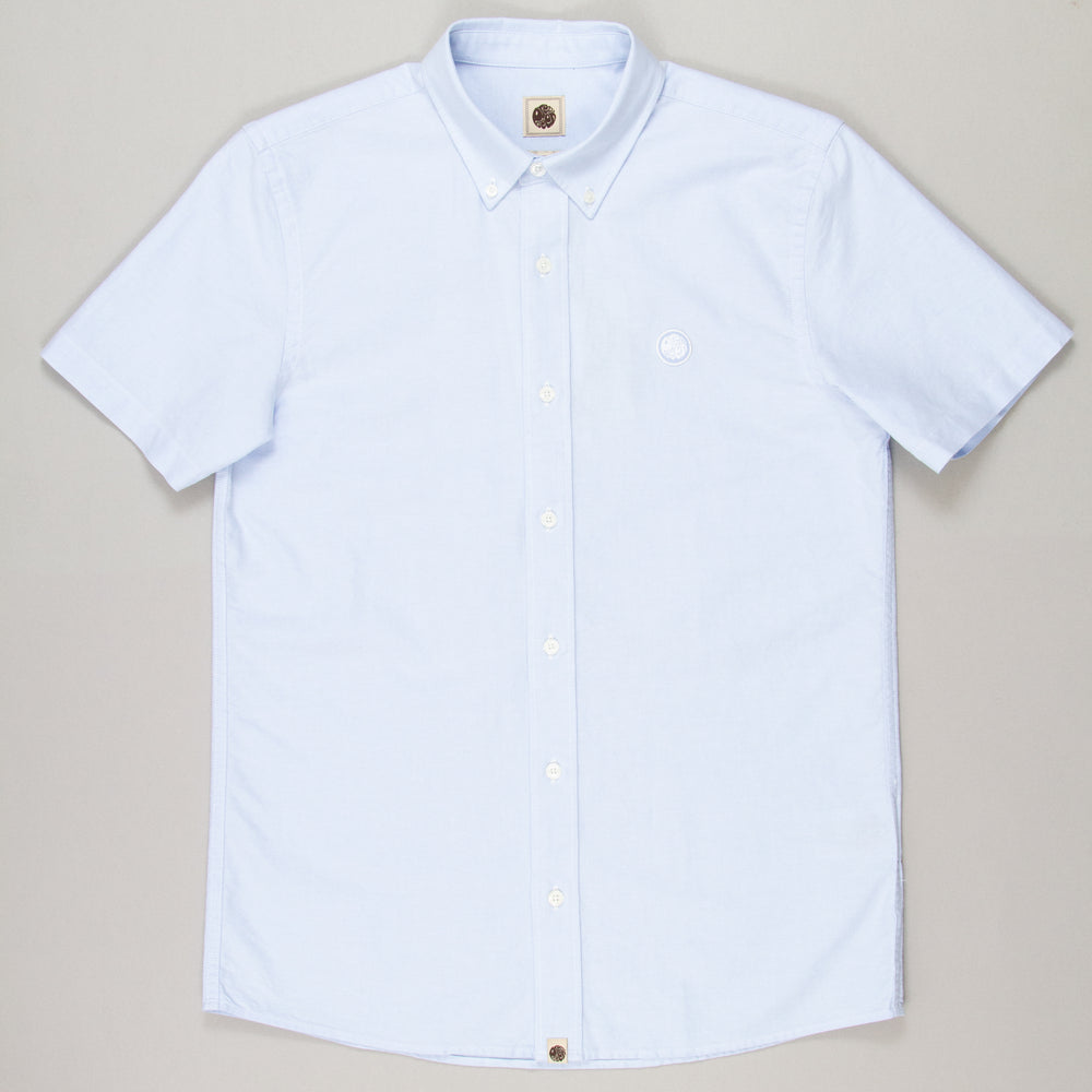 Oxford Short Sleeve Shirt in BLUEPRETTY GREEN - CACTWS