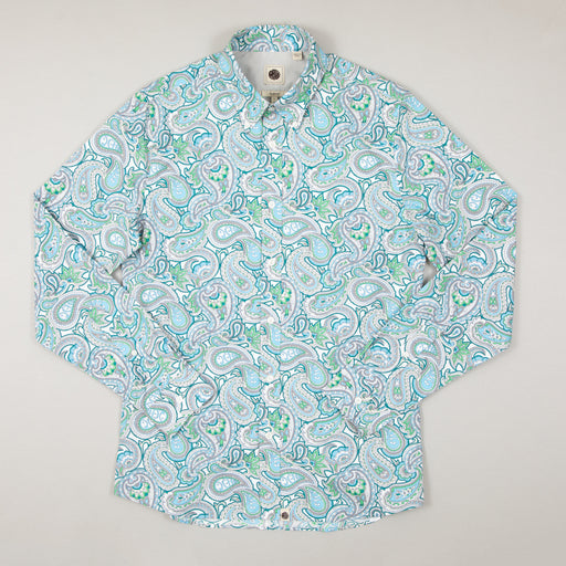 Paisley Print Shirt in GREENPRETTY GREEN - CACTWS